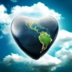 Love earth on clouds