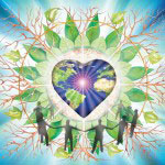 cosmic earth heart